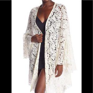 FP Move Over Lace Kimono, size L, new